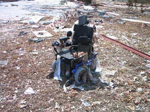 Global warming impacts will be severely felt by disabled people, just as they were with Hurricane Katrina